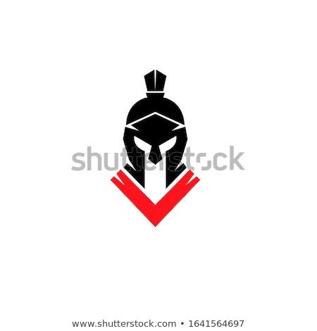Helmet Red Vector Icon Design Stock photo © rizwanali3d