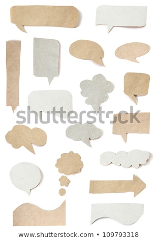 origami · ingesteld · gevouwen · papier · tekstballon · abstract - stockfoto © timurock