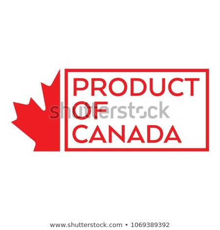 カナダ 国 フラグ 地図 文字 ストックフォト © tony4urban