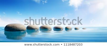 stap · Blauw · zwembad · water · gezondheid · sport - stockfoto © paha_l