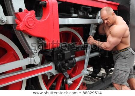 Athlète locomotive état métal gymnase train Photo stock © Paha_L