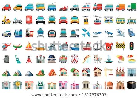 Taşıma araç mavi vektör ikon dizayn Stok fotoğraf © rizwanali3d