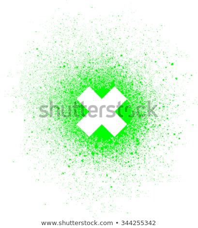 граффити спрей белый зеленый Сток-фото © Melvin07