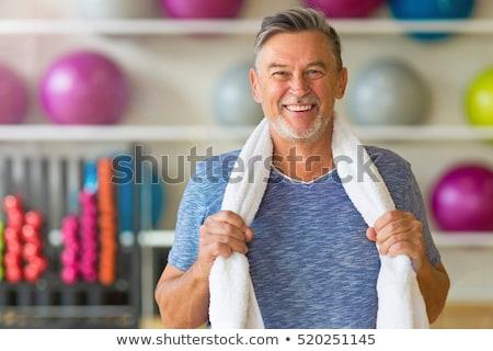 Foto stock: Hombre · salud · club · sonrisa · fitness · tren