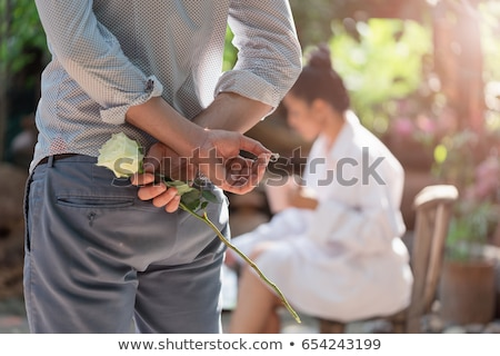 Woman looking at engagement ring. Stock photo © iofoto