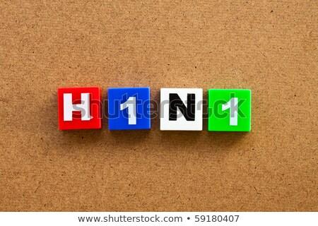 H1n1 алфавит блоки отражение белый Сток-фото © 3mc