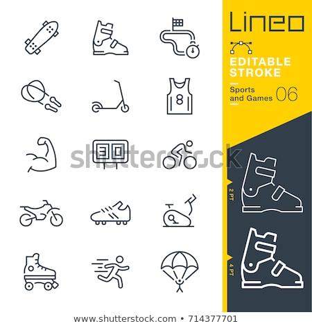 futball · csizma · vonal · ikon · háló · mobil - stock fotó © rastudio