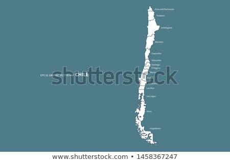 Térkép Chile kék vektor izolált Stock fotó © rbiedermann