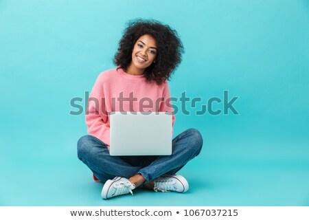 kék · pasztell · vonal · gradiens · háló · számítógép - stock fotó © smeagorl