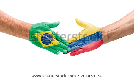 Brasil vs Colômbia futebol fundo quadro Foto stock © jabkitticha
