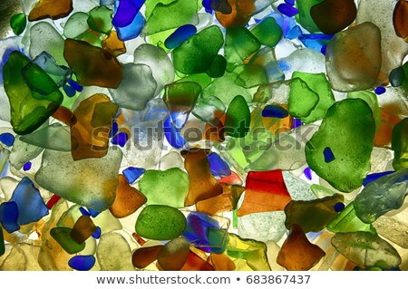 blue glass pieces polished by the sea Stock photo © marylooo
