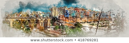 Panorama pintoresco ciudad comunidad Foto stock © amok