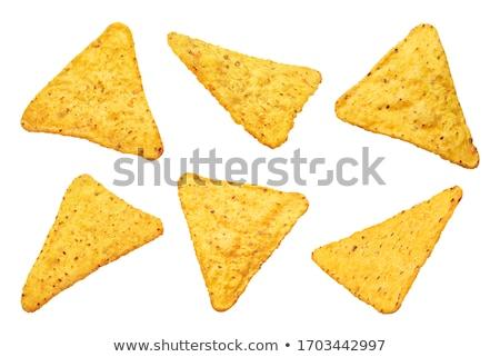 плоская · маисовая · лепешка · чипов · выстрел · кегли · кухне · полотенце - Сток-фото © digifoodstock