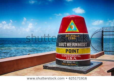 southernmost point marker key west usa stock photo © meinzahn