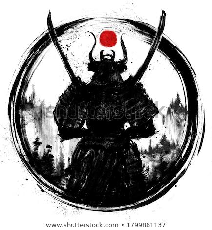 anlamaya · poz · ninja · stil · soyut · insan - stok fotoğraf © koufax73
