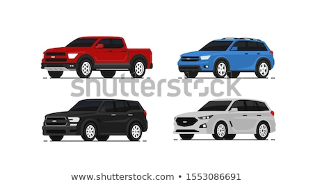 Trucks and cars parking on the road Stock photo © bluering