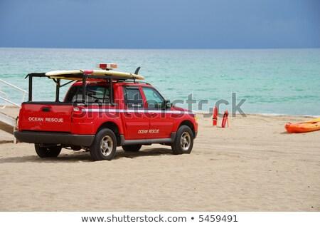 Kustlijn vrachtwagen New Zealand strand Stockfoto © rghenry
