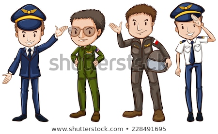 A plain drawing of a pilot Stock photo © bluering