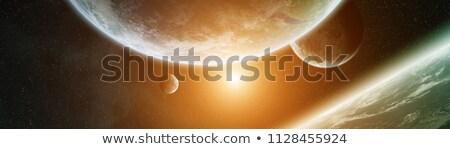 sistema · solar · terra · isolado · planeta · preto · elementos - foto stock © sebikus