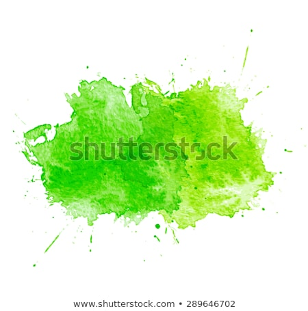 Green vector watercolor paint stain isolated Stock photo © blumer1979