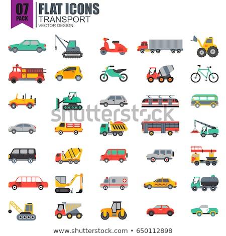 Set of vehicles Stock photo © bluering