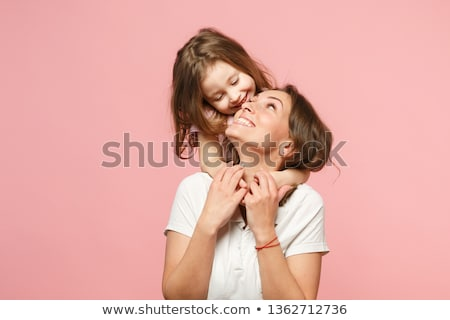 mujer · cute · hija · posando · estudio - foto stock © sapegina