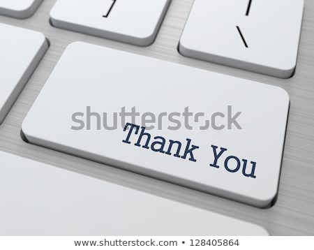 computer keyboard thank you stock photo © oakozhan