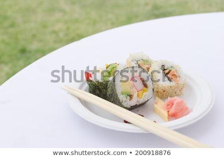 futo maki dashimaki philadelphia uramaki stock photo © peteer