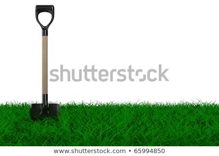 pá · branco · jardim · ferramenta · isolado · 3D - foto stock © ISerg