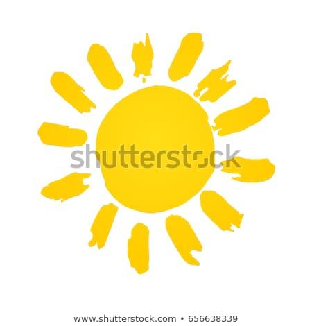Abstrato amarelo sol simples projeto ilustração Foto stock © hittoon