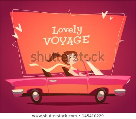 Convertible car vector illustration clip-art image  Stock photo © vectorworks51