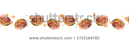 Frame of fresh ruby grapefruit halves Stock photo © ozgur