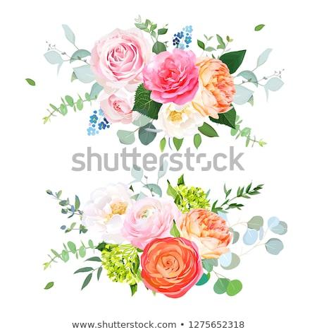 garland of pink roses Stock photo © blackmoon979