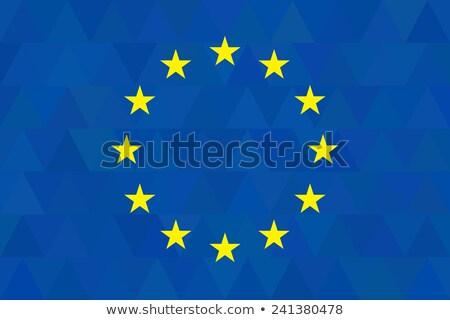 europeu · união · euro · bandeira · ilustração - foto stock © jeksongraphics
