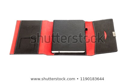 Stack of Leather Notepads Stock photo © zhekos