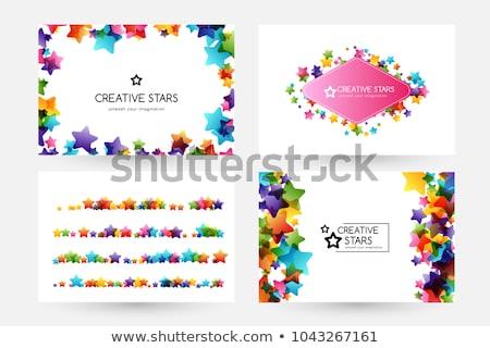 Rainbow frame with stars Stock photo © blackmoon979
