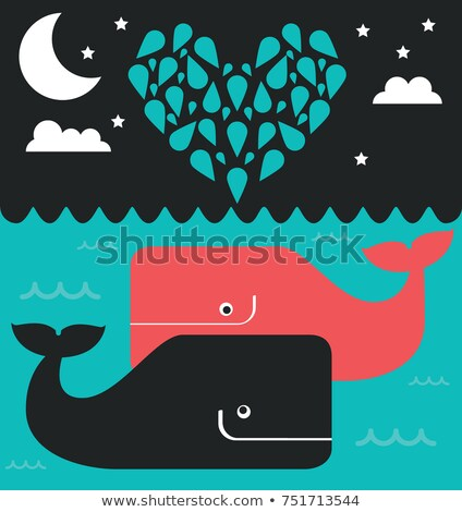whales spouses in the ocean Stock photo © adrenalina