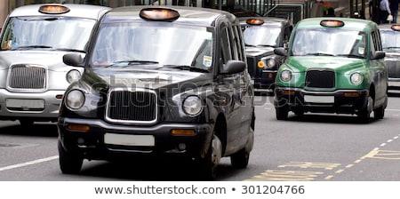 London taxi taxi illusztráció klasszikus brit Stock fotó © olegtoka