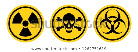 Strahlung Warnschild Vorsicht chemischen Warnzeichen radioaktiven Stock foto © popaukropa