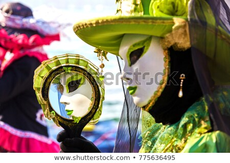 Venecia · carnaval · máscara · tradicional · flor - foto stock © alphaspirit