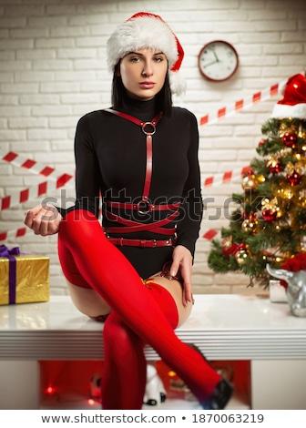 пояса чулки белый моде женщины Сток-фото © RuslanOmega