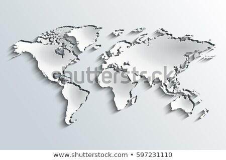 world map in peeling paper stock photo © tilo