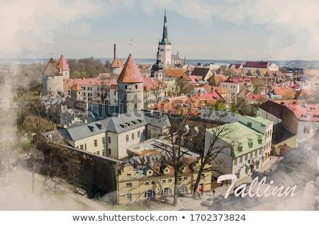 Таллин старый город Эстония средневековых Солнечный лет Сток-фото © Estea