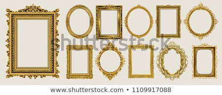 Golden decorative retro frames - vector set Stock photo © blue-pen