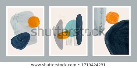 抽象的な 水彩画 手 描いた ベクトル ストックフォト © Mamziolzi