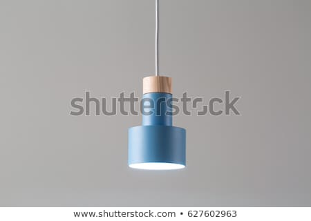 Hanging luminous wooden-metallic lamp Stock photo © bezikus