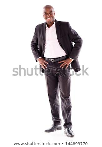 African-american businessman with hand in pocket. Stock photo © RAStudio