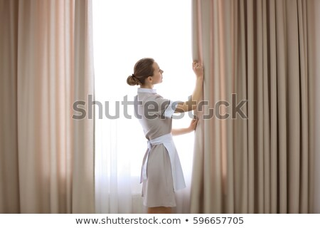 Woman working in parlour Stock photo © dash