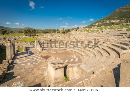 ruins of theater in ancient city of messinia peloponnese greece stock photo © ankarb