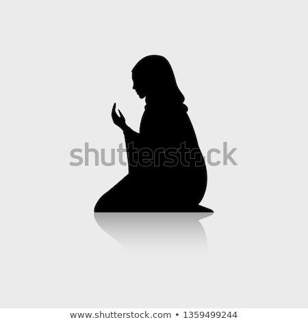 ムスリム · 女性 · ベール · 実例 · 祈り · ドレス - ストックフォト © adrenalina